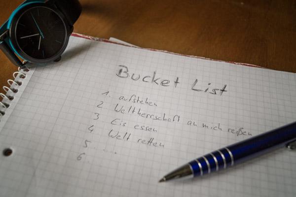 Bucket List - die Lebens-to-do-Liste